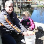 Khloe Hawley, age 4 of Verbank, caught the Golden trout.