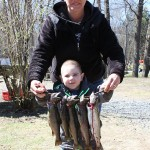 Christian Edmonds age 3, caught 5 fish.
