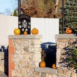The Pumpkin Wall at the Mill Site on October 24, 2015