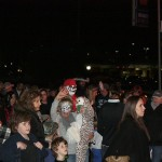The little Trick or Treaters lined up outside the firehouse, and then proceeded to Traver Road School for a Magic Show.