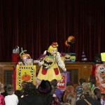 The children were treated to a special show staring Bee Bee the Clown.