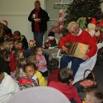 Coloring books and the candy canes were donated by the Hudson Valley Credit Union.
