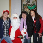 Santa and the Recreation Department Barb, ChrisAnn and Sandy.