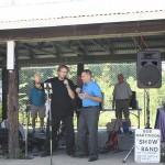 Bob Martinson and County Executive Marc Molinaro sing for the Seniors