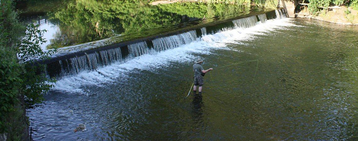 Fishing below the PV Dam