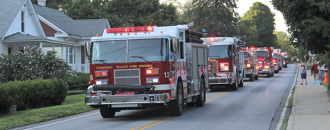 Parade of Firetrucks