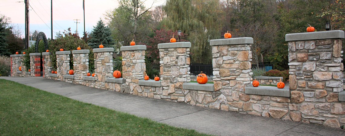 Wall of Pumpkins